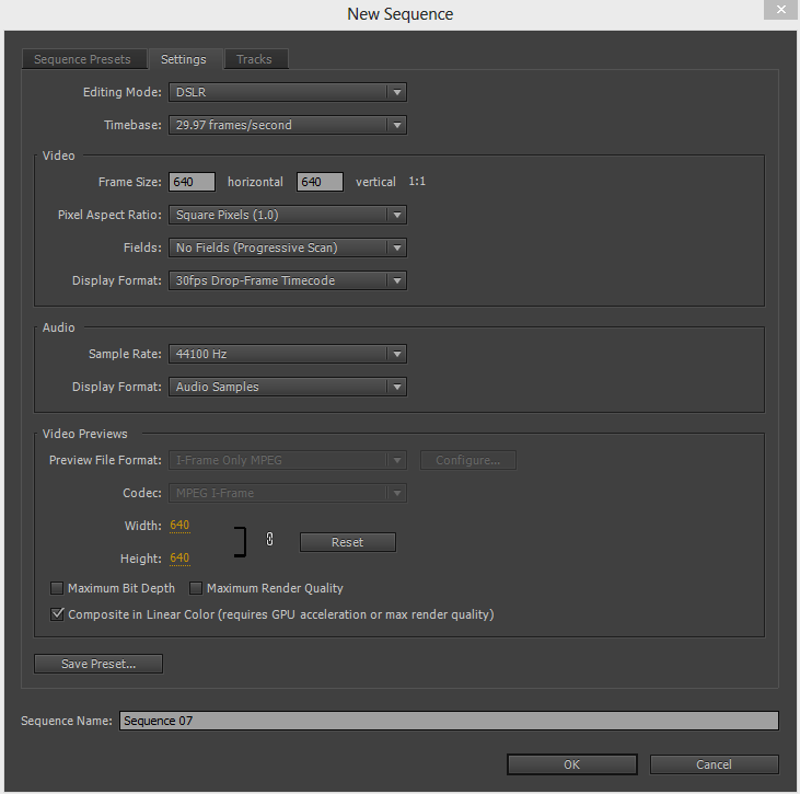 after effects 1080p render settings in premiere